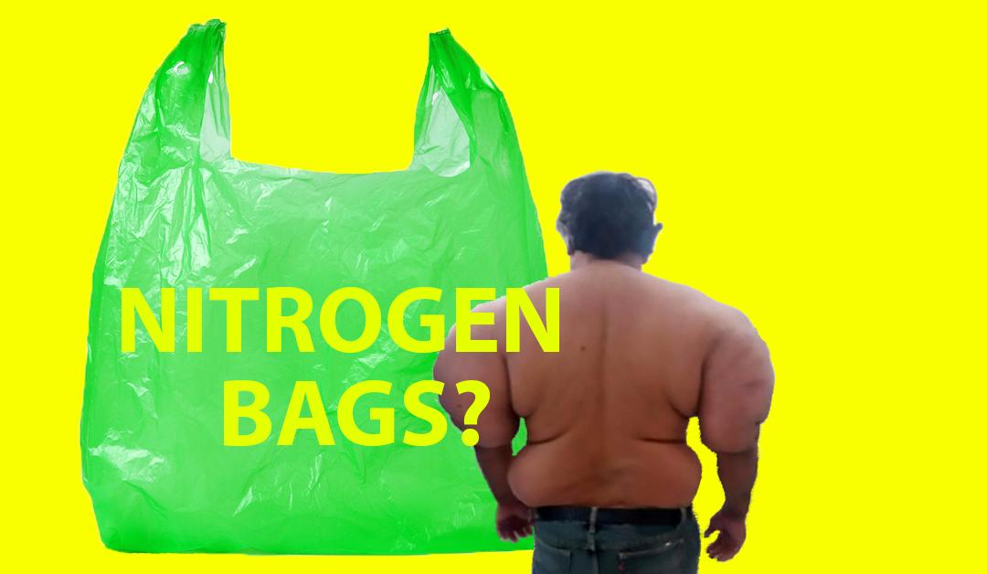 A diver swollen with nitrogen bags?
