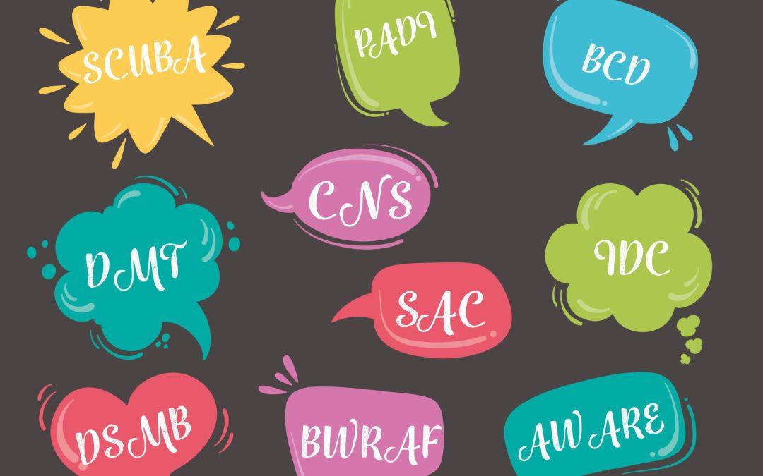 Most Important Scuba Diving Abbreviations & Acronyms